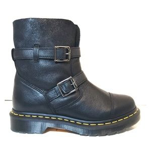 NEW Dr Martens Kristy Black Motorcycle Boots 6